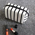 striped makeup bag women Cosmetic pouch travel admission package