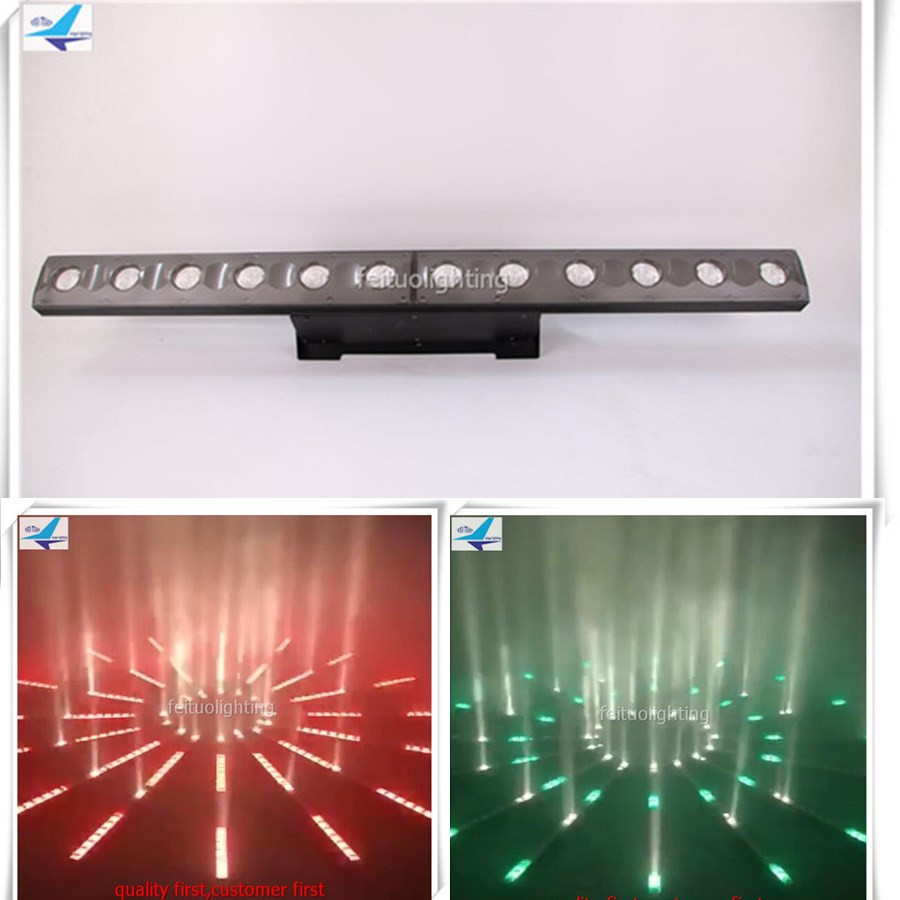 New Arrival 4pcs/lot Magic Stage 12x3w Warm White or Amber+72x0.2w 4IN1 RGBW LEDS Linear Wall Washer Landscape Disco DJ Lighting