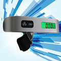 Portátil 50 kg de Peso Digital de Bolso Bagagem Mala Saco de Viagem Portátil Mini Escalas Gram Eletrônico Termômetro LCD Dispay