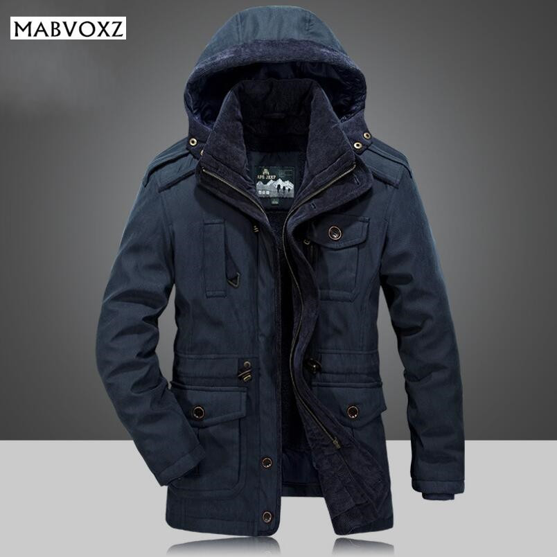 Winter -30 Degree Snow Warm Thick Men Parkas POLYESTER SHERPA AFSJEEP Brand Mens Jackets and Coats chaquetas hombre Cloth