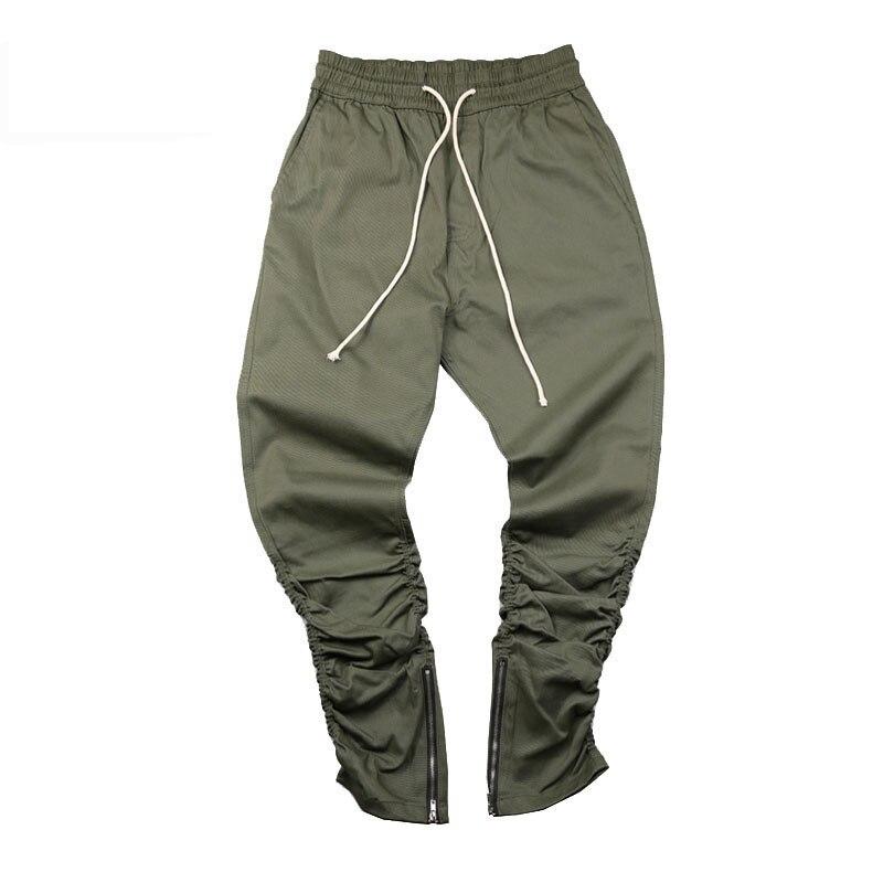 ece015067 2017 new arrivals calças skinny zipper botton do exército sweatpants hip  hop calças calças corredores de carga 30-36 AYG196