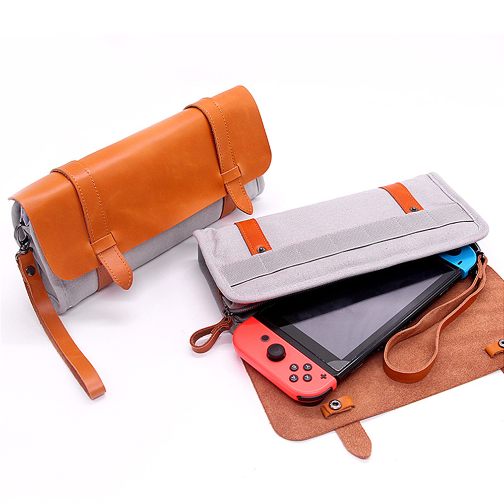 Storage Case For Nintend Switch Game Console Protective Traveling Carrying Case Bag Cover for NS Console & Game Cards Wrist Bag