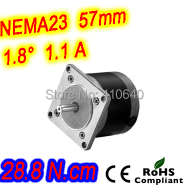 Round shape 10 pieces per lot step motor 23HR16-1106S  L 41 mm Nema 23 with 1.8 deg  1.1 A  28.8 N.cm and  unipolar 6 lead wires