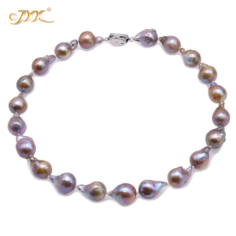 JYX Baroque Pearl 13-20mm Natural Champagne Baroque Freshwater Cultured Pearl Necklace 18 women Christmas necklace jewelryJYX Baroque Pearl 13-20mm Natural Champagne Baroque Freshwater Cultured Pearl Necklace 18 women Christmas necklace jewelry
