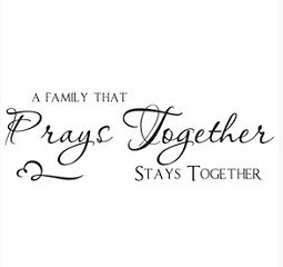 Wall Sticker A Family That Prays Together Quote Vinyl Decal