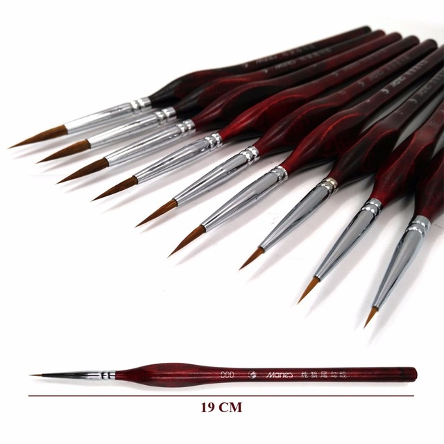Premium Quality Paint Brush Set Sable Hair Miniature Hook Line Pen for Detail Art Painting Brush Art Nail Drawing Art Supplies 3