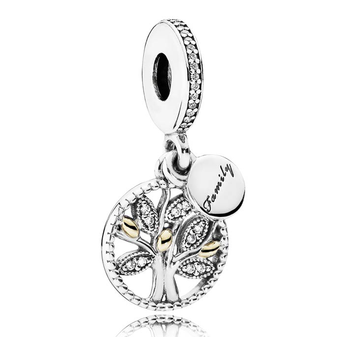 925 Sterling Silver Family Charms Crystal Tree Of Life Beads Fit Pandora Bracelet Pendant For Women Berloque Pulsera Jewelry