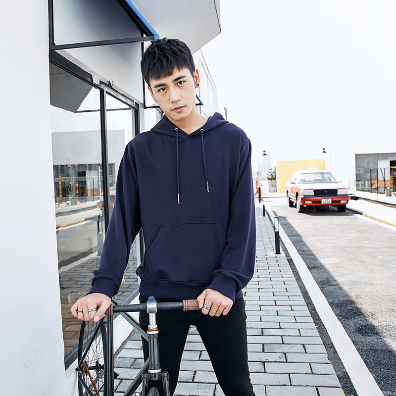 Male Hoodie Sweatshirt 2018 New Brand Men Hooded Pullover Hoodies Streetwear Solid Color Cotton Fleece size 3XL Fashion Vestidos