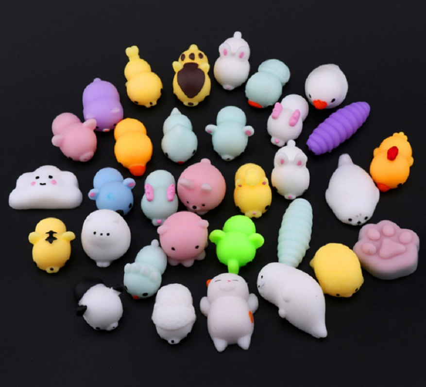 Colorful Novelty Soft Elastomer Cute Animal Model toy Fertilizer Seal Cat Bear Figure Squeeze Extruded Novelty Anti Stress toy