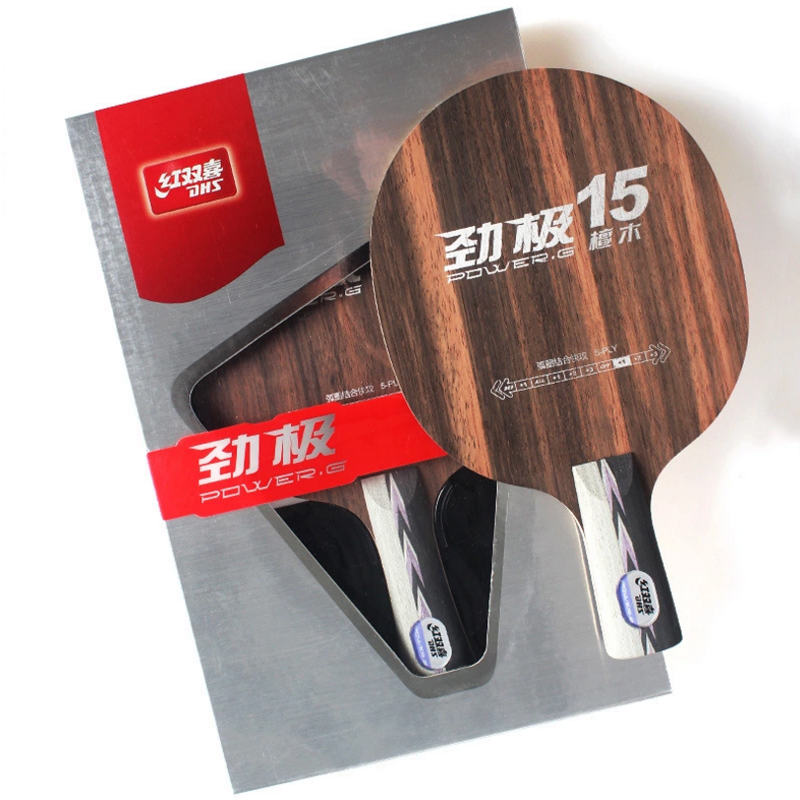 Raquettes de Ping-Pong DHS Tischtennis en bois ébène Raquette de Ping-Pong