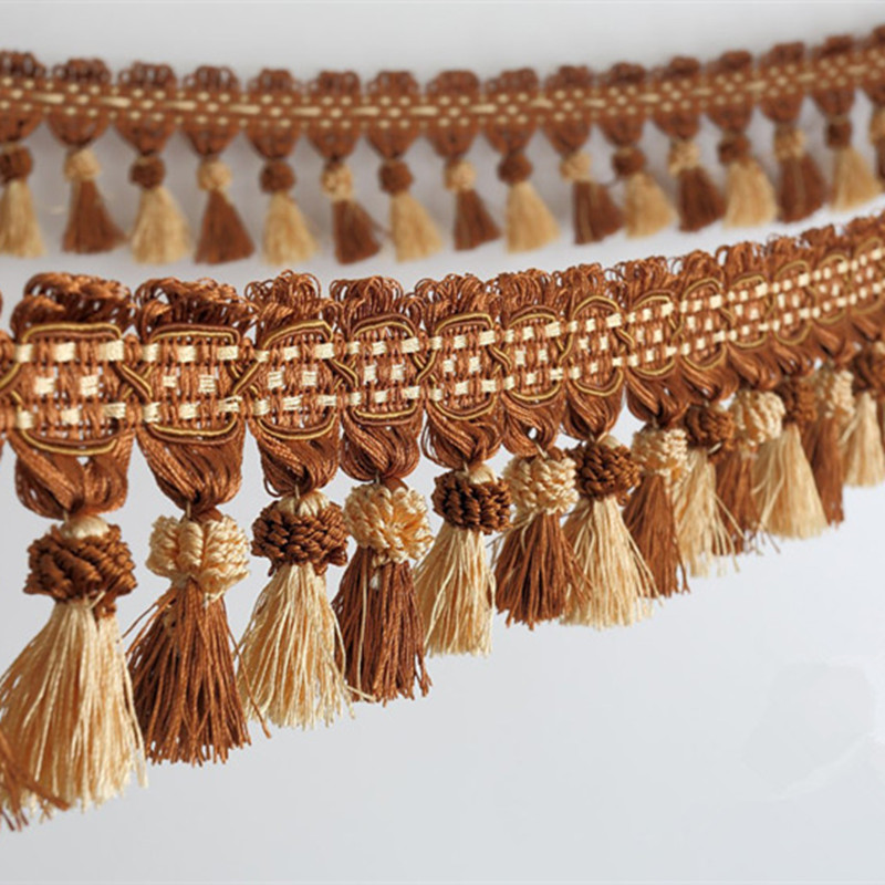 XWL New 6M/Lot 10cm Wide Curtain Lace Accessories Double Color Tassel - Arts, Crafts and Sewing - Photo 4