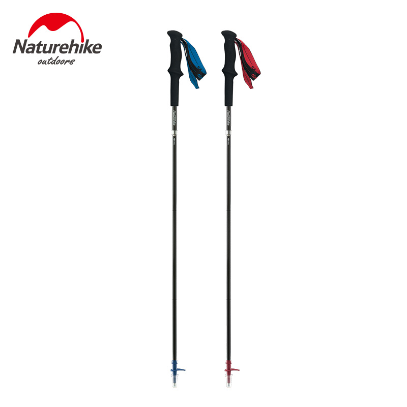 Naturehike 153g Hiking Sticks Carbon Fiber Walking Poles Camping Accessories Walking Cane Folding Climbing Skiing Trekking Pole