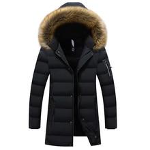 Новые зимние мужские парки, пальто, теплая куртка, Повседневная парка, мужская длинная куртка, повседневная приталенная одежда с капюшоном, большой размер 5XL 6XL
