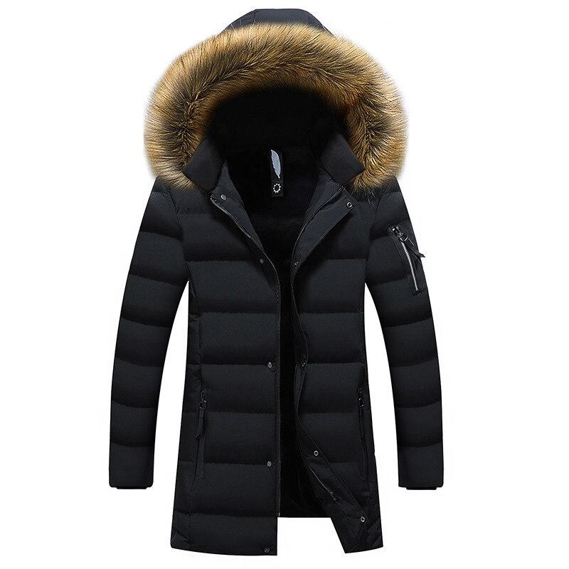 Nowe zimowe męskie parki płaszcze ciepła kurtka kurtka na co dzień męskie długie kurtka na co dzień Slim Fit odzież z kapturem duży rozmiar 5XL 6XL w Parki od Odzież męska na  Grupa 1