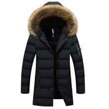 Nuevas Parkas de invierno para hombre, chaquetas cálidas, Parka informal larga para hombre, chaqueta informal ajustada con capucha, ropa de talla grande 5XL 6XL