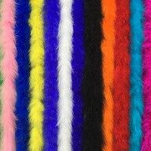 Высокое качество натуральный белый шлейф боа 2 м/шт. пушистые перья индейки боа для рукоделия вечерние/костюмы/декоративная шаль