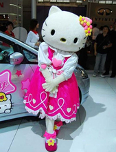 Hello Kitty Cartoon Fancy Dress Mascot Costume Adult Suit Express