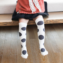 25cm One Size Baby Girls Socks 1-6Y Dot Pattern Mesh Socks with Bow Over Knee High Long Socks Princess Infant Socks Lace Cotton цена 2017
