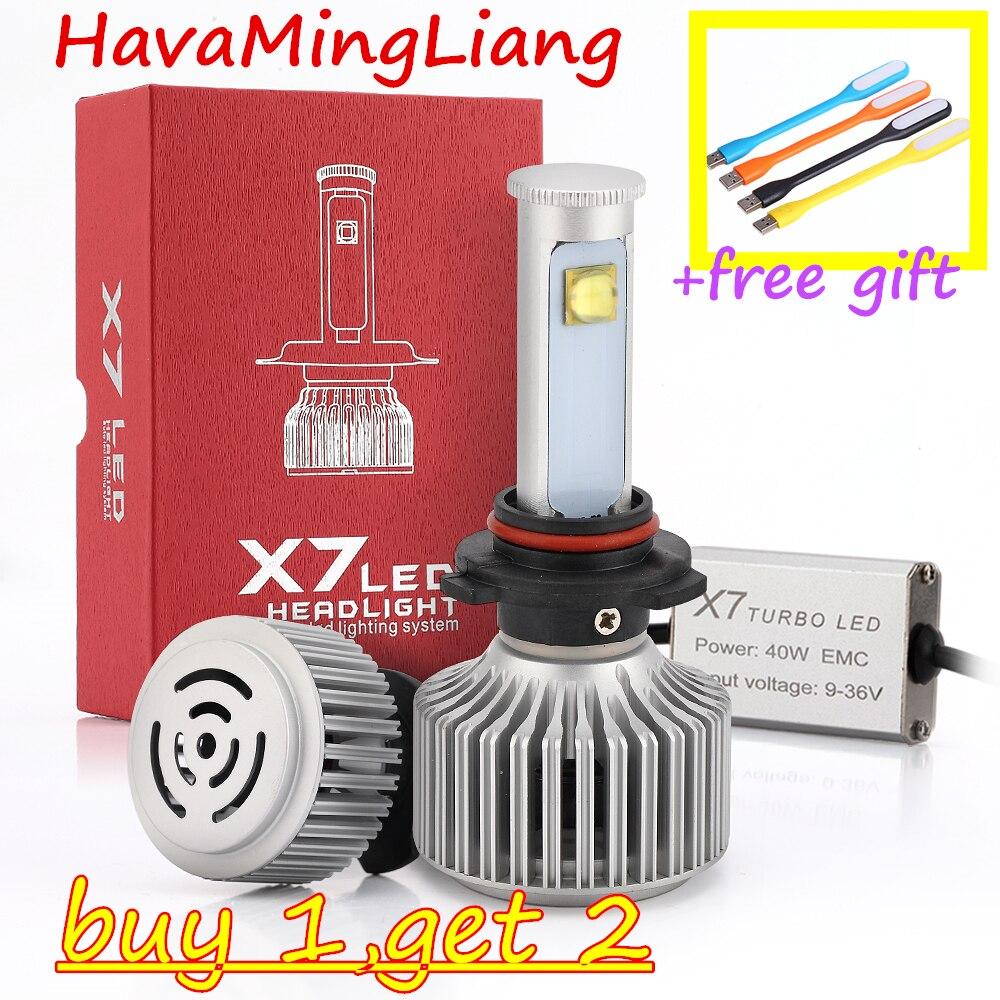 Phare de voiture H4 Hi/Lo H7 H13 9004 9007 Led phares 8000LM 6500 K haute luminosité Auto lumières Kit de Conversion lumière de travail