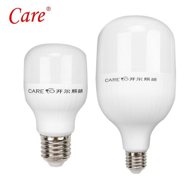 de plástico ahorro 12 15 aluminio bombillas lámpara LED para 6500 de 220 W casa LED de W lámpara 7 E27 Cuidado bombillas K y energía W V de cilíndrico QdCxoWBer