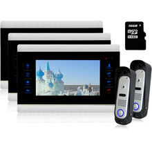 Homefong 7 pulgadas Teléfono Video de La Puerta Teléfono Teclado Táctil LCD Monitor de Vídeo Timbre Anillos Noche CMOS de la Cámara Con Sistema de Intercomunicación
