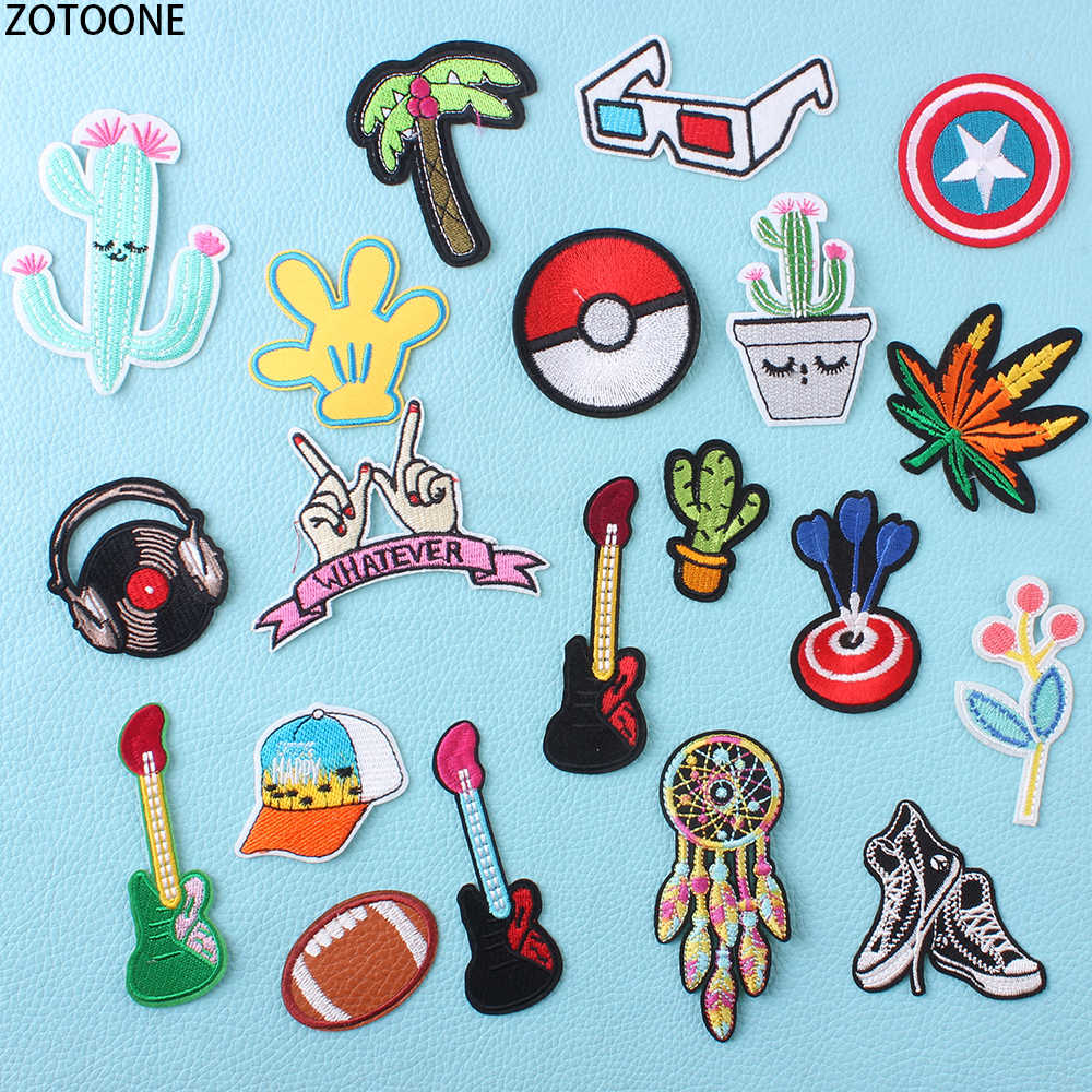 ZOTOONE Pokemon Dream Catchers Patch for Clothing Embroidered Clothes Patches Application Badges Stickers Appliques for Crafts E