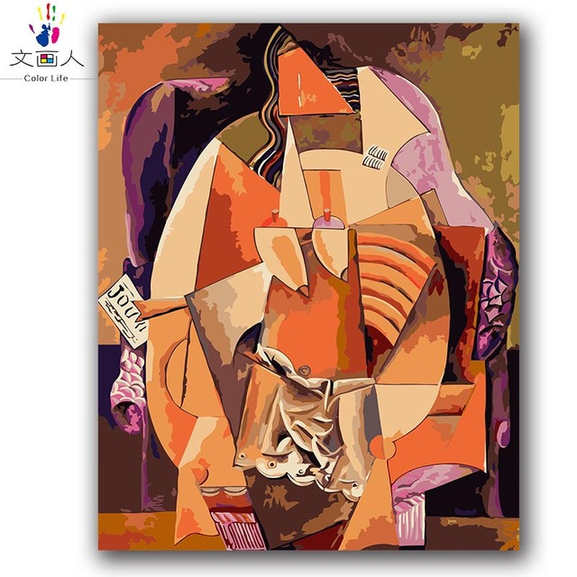 coloring paints by numbers Picasso abstract music pictures paintings by numbers with kits diy framed for living room decoration