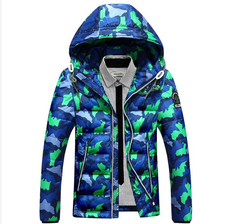 ФОТО New Winter Men Leisure Fashion Camouflage Hooded Down Jacket Coat, Large Size M - 3 Xl