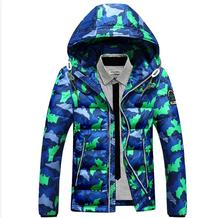 New Winter Men Leisure Fashion Camouflage Hooded Down Jacket Coat, Large Size M – three Xl