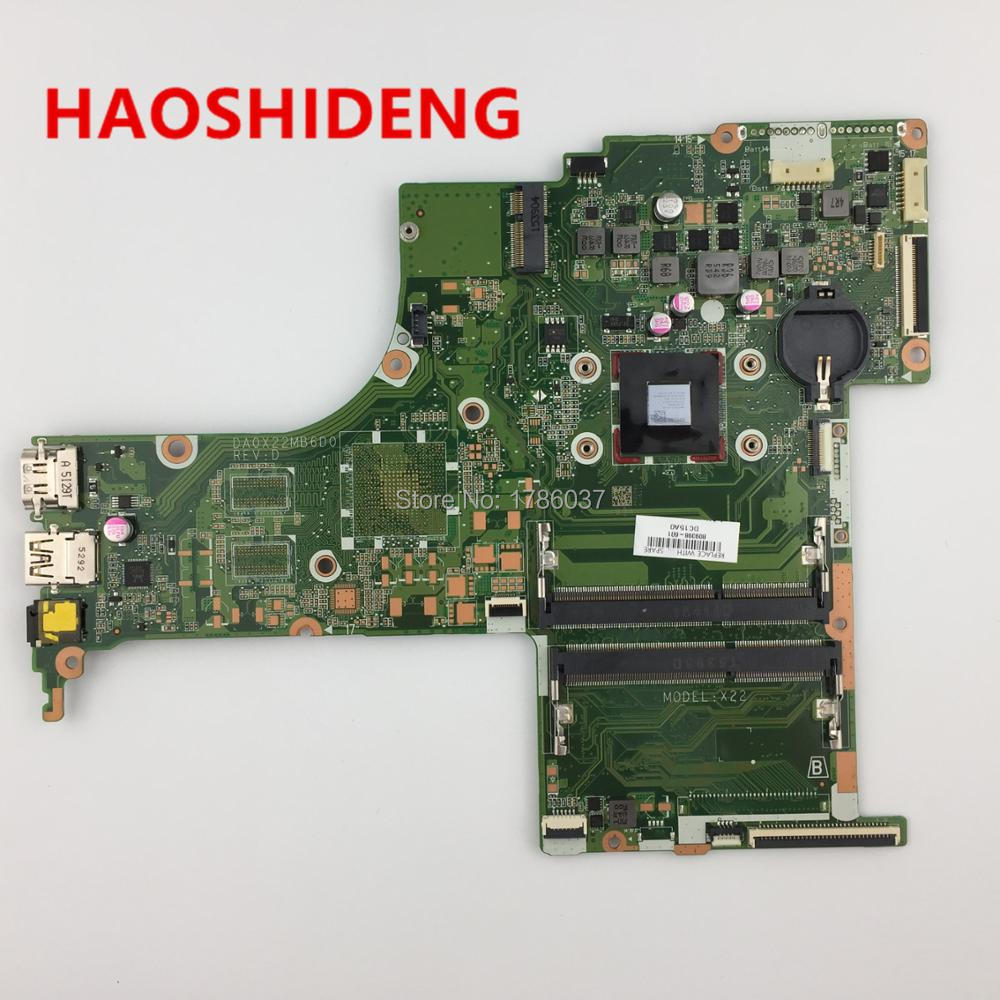 809398-501 809398-601 DA0X22MB6D0 X22 for HP Pavilion Notebook 17-G series motherboard with A6-6310 CPU.All fully Tested ! cow spots decorative stair stickers