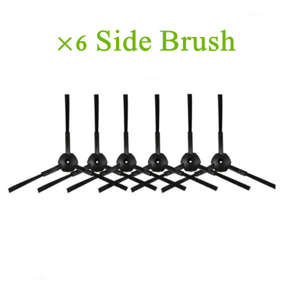 6 pieces Side Brush for ILIFE V7 ILIFE V7S Robotic Vacuum Cleaner for Home Robot Vacuum Cleaner Accessories Side Brush side brush for ilife v7s pro ilife v7 v7s ilife v7s plus robotic vacuum cleaner for robot vacuum cleaner parts side brushes