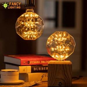 Image 4 - Led lamp E27 FootBall Starry Sky led light bulb 110V 220V Dimmable lampada led for home/living room/bedroom decor bombillas led