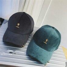 new velvet floor steel ring trend Beautiful ladies baseball  cap snapback  casquette new yeah reward
