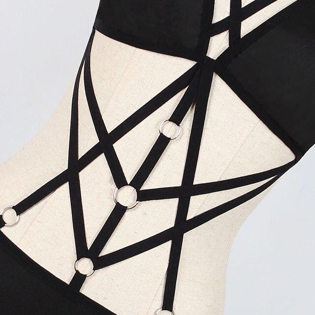Hirigin Women Punk Bra Body Bondage Sexy Bodysuit Lingerie Dress Babydoll Nightwear 3