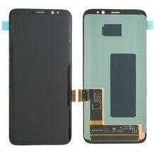 S8 ЖК-дисплей с заменой рамка для SAMSUNG Galaxy S8 G950 G950F Дисплей S8 плюс G955 G955F Сенсорный экран планшета