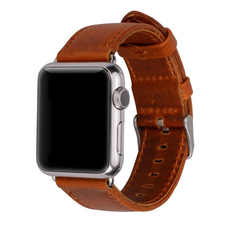 Serija 2/1 100% pravega usnja trak za ročno uro za Apple Watch Band - Dodatki za ure - Fotografija 1