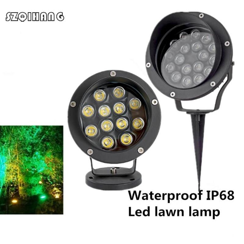 36W/18W/12W/6W/3W LED Landscape Lights Outdoor, Waterproof Decorative Spotlights Lawn Lamp With Ground Spike Garden lighting
