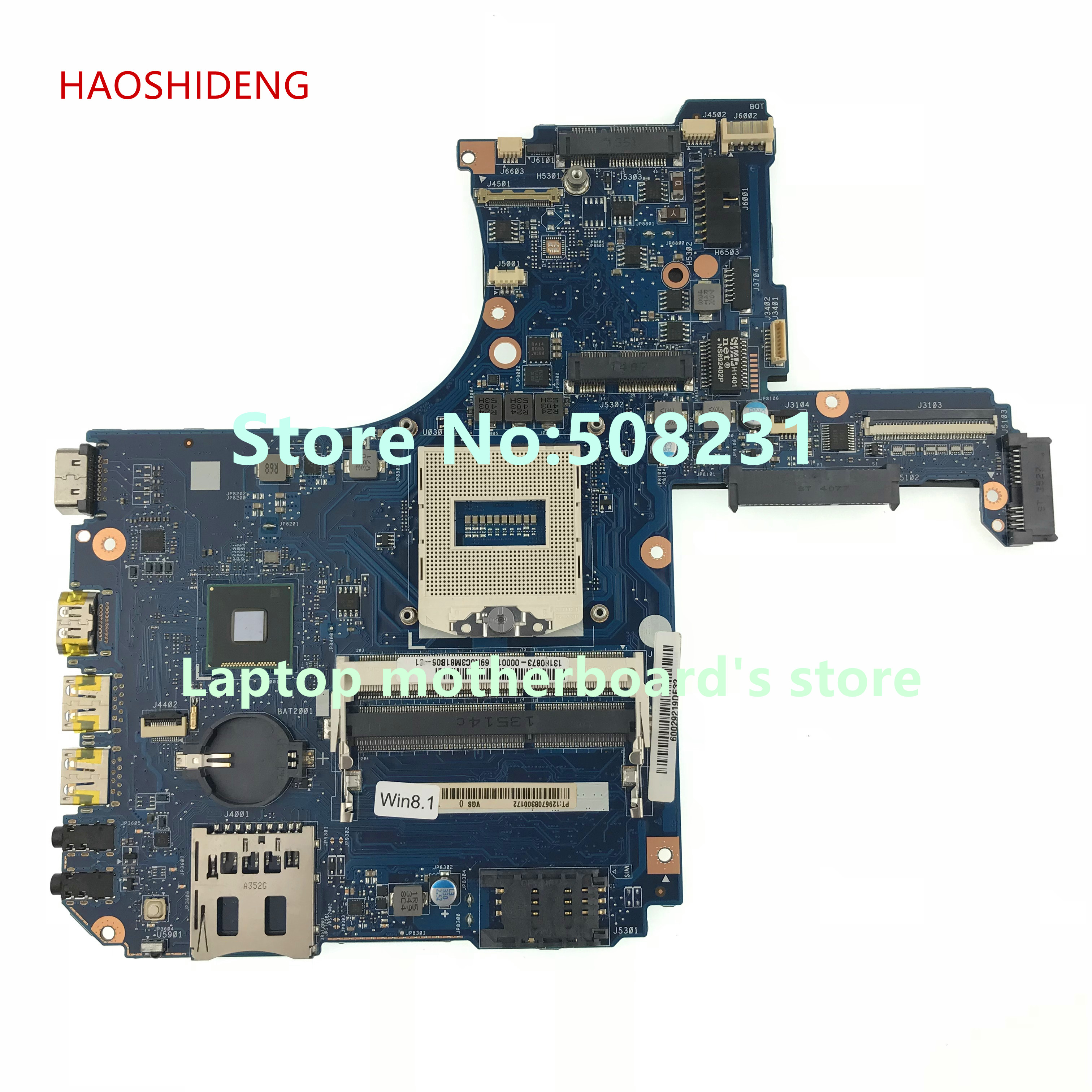 все цены на HAOSHIDENG H000055990 mainboard For Toshiba Satellite P50-A P50T-A P55-A laptop motherboard socket PGA 947 HM86 DDR3L