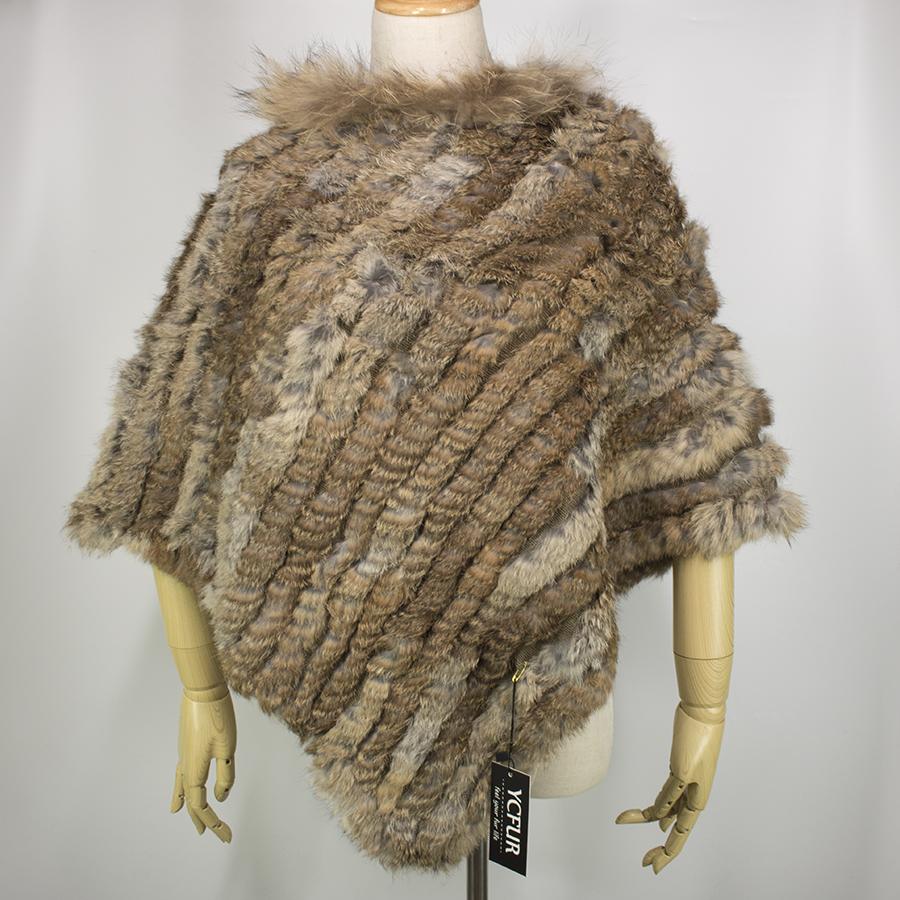 YCFUR Ponchos Xales Inverno Quente Para As Mulheres Handmade Malha ... 8d4918227c7