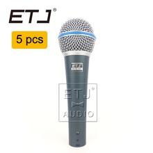 ETJ Marca 5 pcs Atacado de Alta Qualidade Beta 58A 58 Clear Sound Handheld Com Fio Microfone de Karaokê