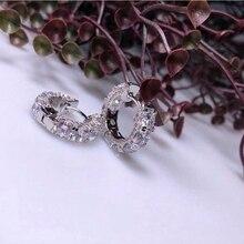 Hotsale New Multi Layer Cubic Zircon Micro Paved Full CZ Hoop Earrings for Women Korean jewelry 925 Sterling Silver Jewelry