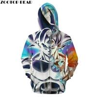 Dreamy Goku 3D Zip Hoodie Men Zipper Hoody Dragon Ball Women Tracksuit Anime Sweatshirt Saiyan Coat Pullover DropShip ZOOTOPBEAR