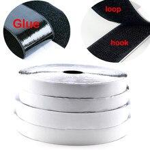 Ruban de fixation auto-adhésif en Nylon, 5 mètres, pour disques adhésifs avec colle, boucle de crochet, noir blanc 16/20/25/30/50/100/110mm