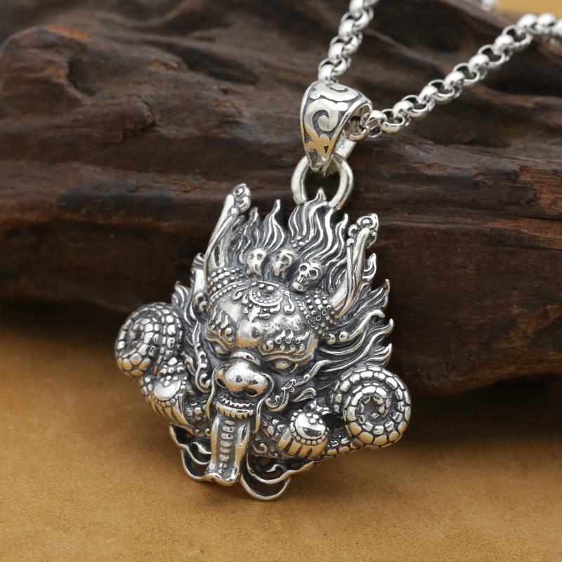 New! Handmade 925 silver Dragon pendant vintage thai silver strong Dragon pendant Man jewelry gift necklace pendant все цены