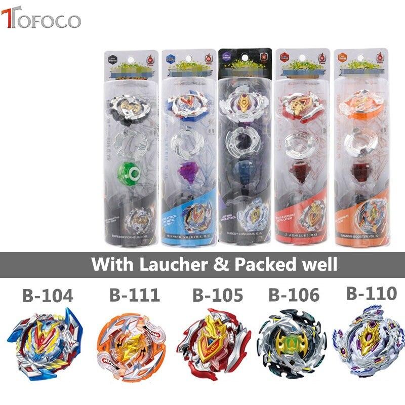 цена на TOFOCO Beyblade Burst B104 B105 B106 B110 B11 Metal Plastic Fusion 4D With Launcher Original Box Bayblade Toy For Kids