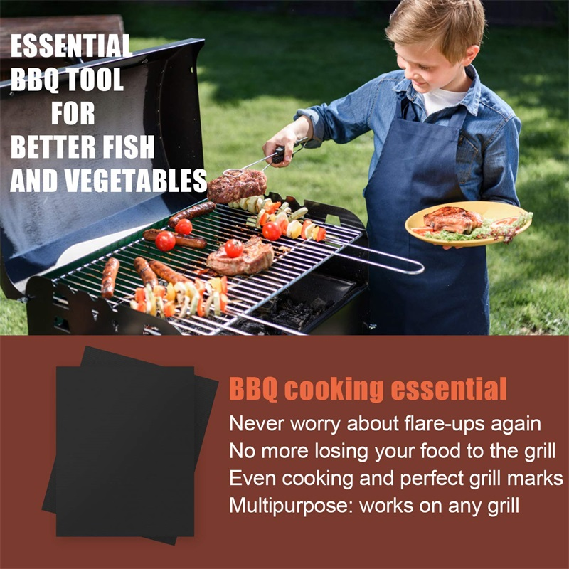 Closeout Deals×Pad Oven-Tool Bbq-Grill-Mat Baking-Sheet Barbecue Non-Stick Cooking Picnic Outdoor Reusable