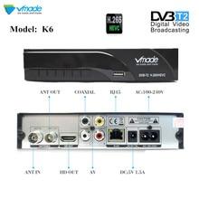 DVB-T2 K6 DVB-T H.265 HEVC цифровой HD наземного ТВ приёмник, поддерживает Dolby Youtube DVB T2 MPEG-2 телевизионный тюнер с RJ45 LAN