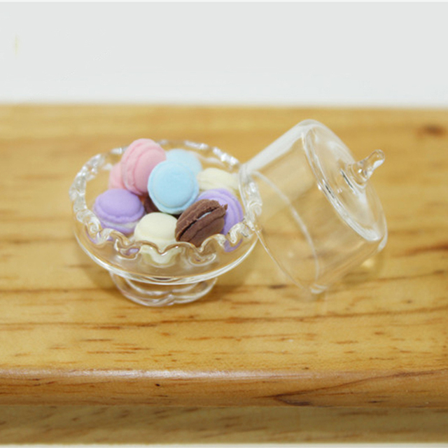 1/12 Dollhouse Miniature Accessories Mini Candy Jar  Simulation Food Dessert Can Model Toys for Doll House Decoration