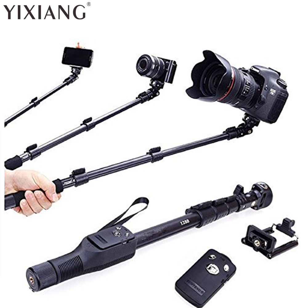 YIXIANG For Gopro Dslr Camera IOS Android Phone Selfie Stick 1288 Bluetooth Extendable Handheld