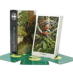 2018 Полный английский природа Таро карты таинственные животные игральные карты для вечерние семейная настольная игра